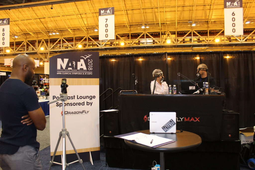 Ginny Garner; podcast lounge; ATVantage; NATA 2018; New Orleans