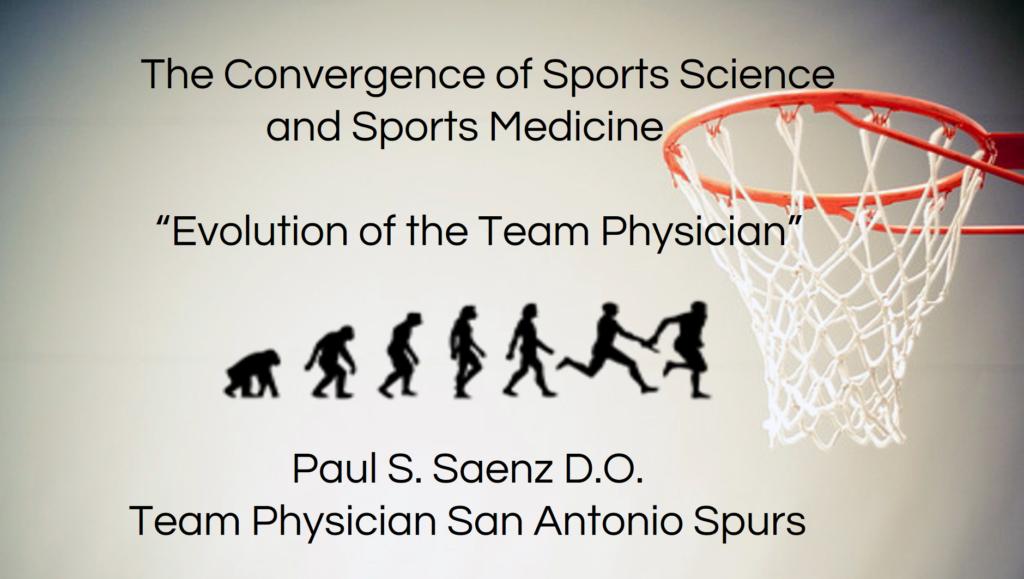 Sports Science, Sports Medicine, dr. Paul Saenz